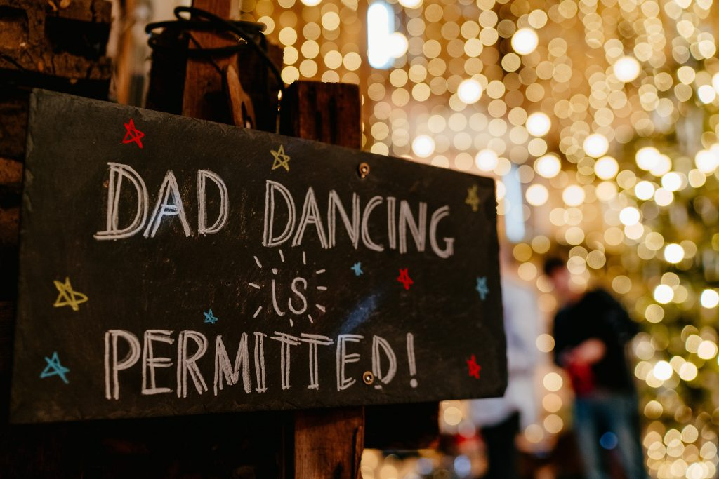 Dad dancing is permitted at Hereford Wedding Venue Lyde Court