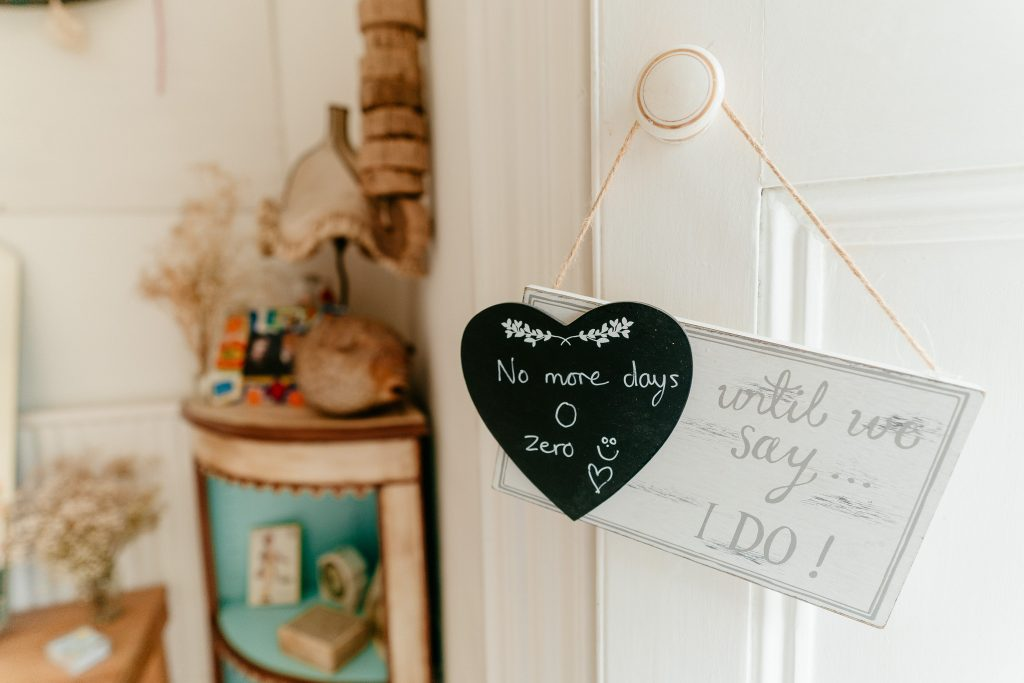 Cute sign at Hereford Wedding Venue Lyde Court
