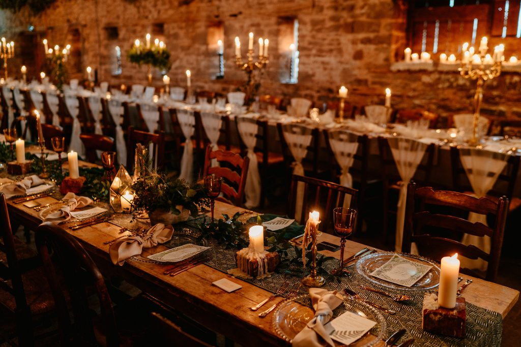 The barn at Hereford Wedding Venue Lyde Court