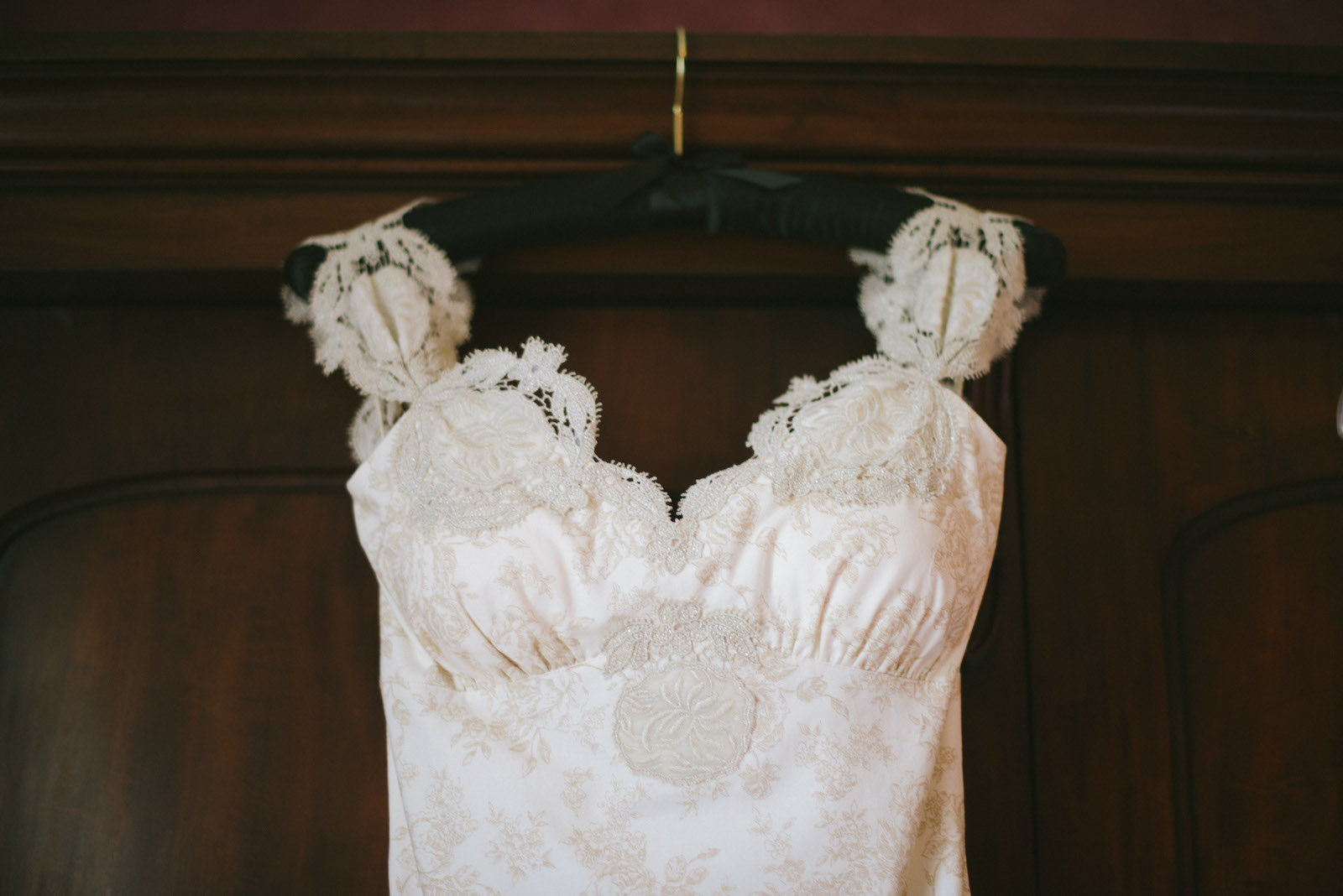 Vintage wedding dress at Lyde Court wedding venue