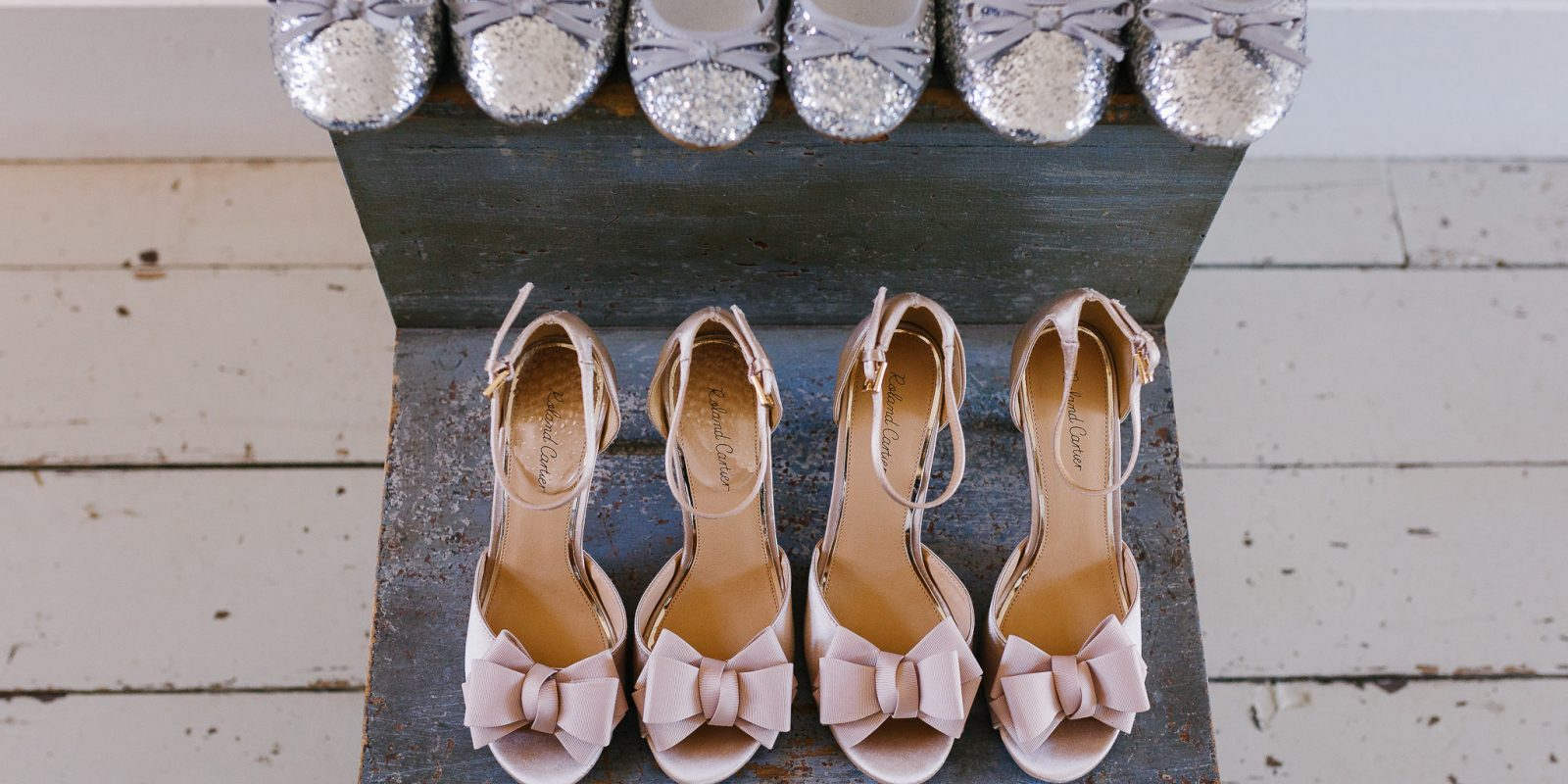 Wedding shoes - bridesmaids at Lyde Court
