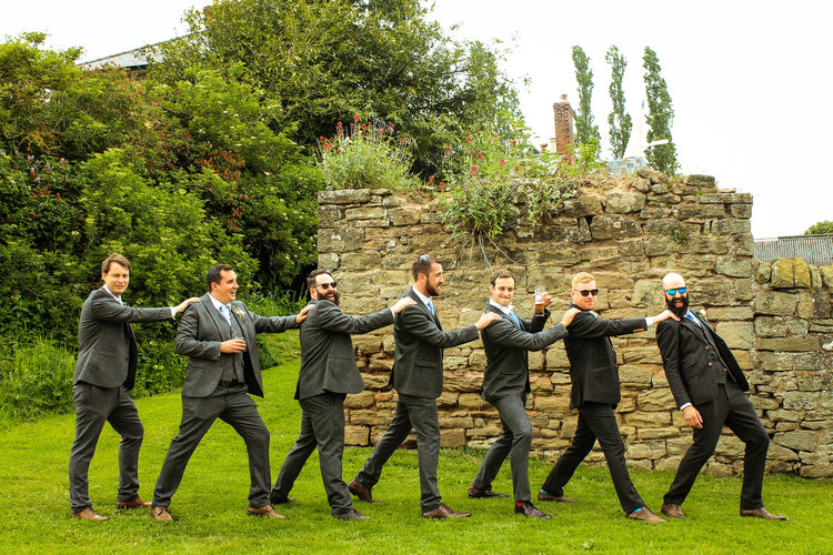 Ushers at Lyde Court Barn Wedding Venue, Hereford